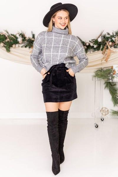 Season Greetings Corduroy Skirt