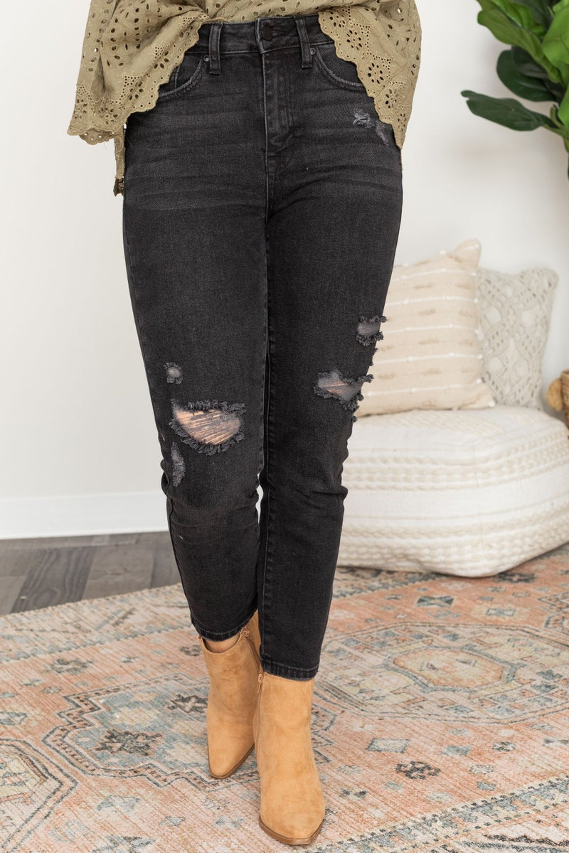Everyday Distressed Denim in Black