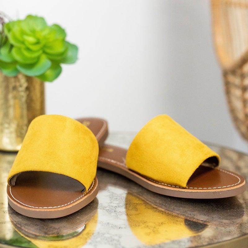 Easy Going Sandal in Mustard