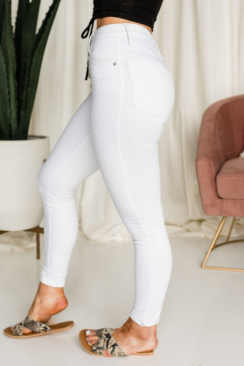 White on Time Skinnies