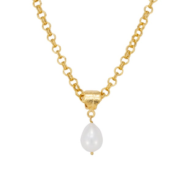 GABRIELLE Necklace (Gold and Pearl)
