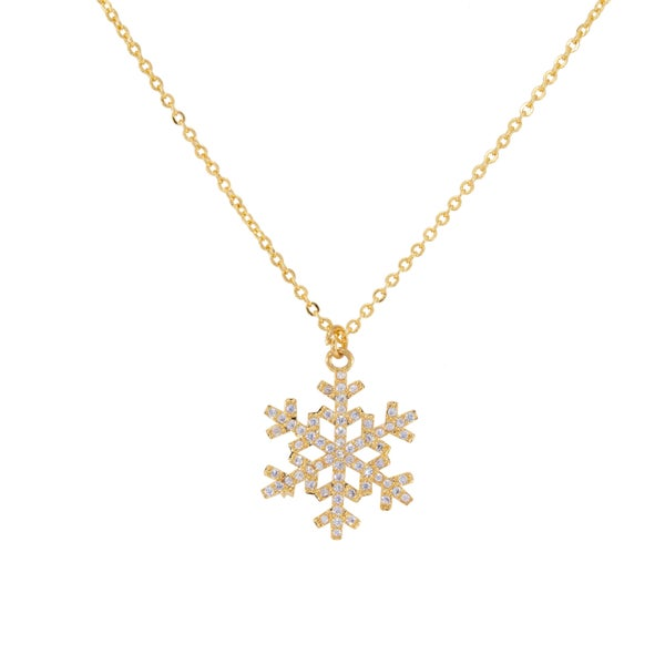 SNOWFLAKE Necklace (Gold & Crystal)
