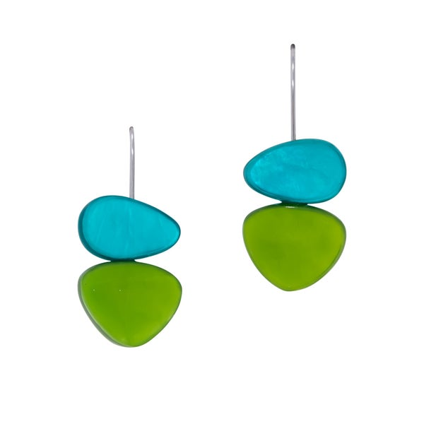 NORAH Earrings (Turquoise and Green)