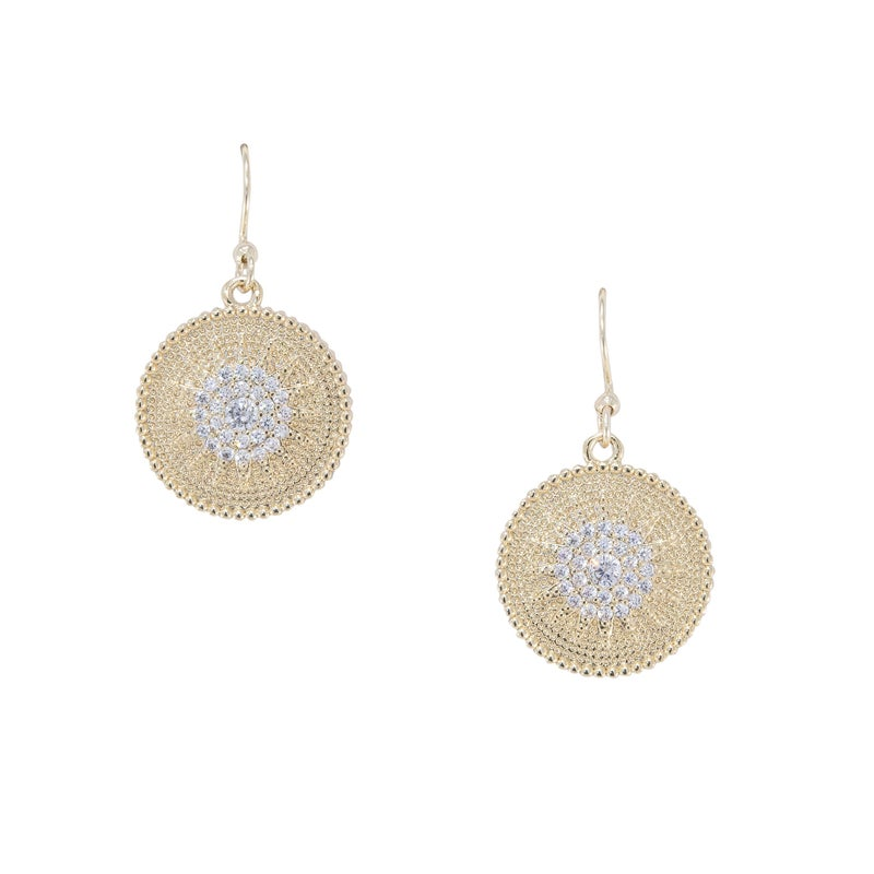 ARIANA Earrings (Gold and Crystal)