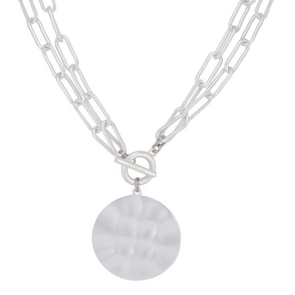 AMELIA Necklace (Matte Silver)