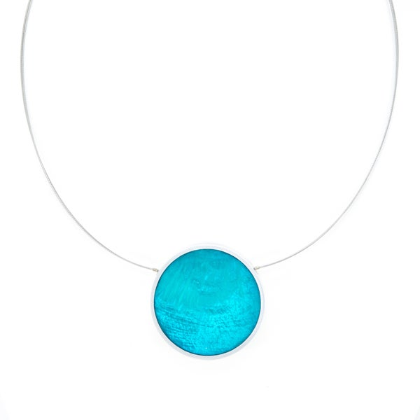 JASMINE Necklace (Reversible, Turquoise, and Royal Blue)