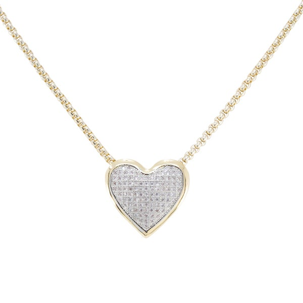 VALERIA Necklace (Gold and Pave Crystal)