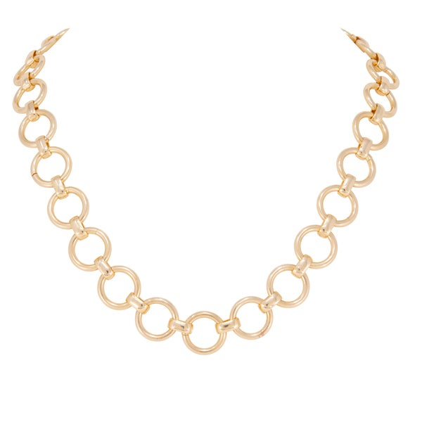 LYDIA Gold Circle Link necklace