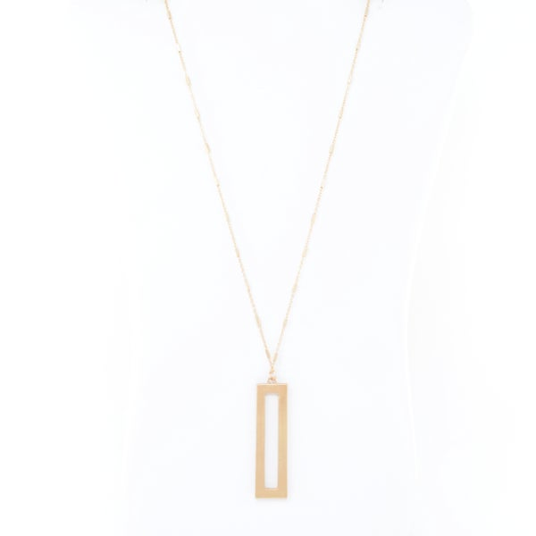 SIMPLE RECTANGLE Pendant (Gold)