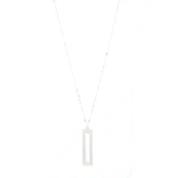 SIMPLE RECTANGLE Pendant (Silver)
