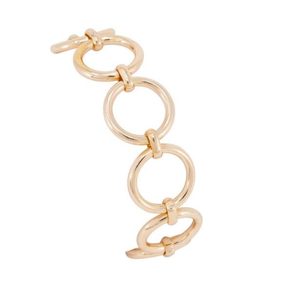 LYDIA Gold Circle Link Bracelet