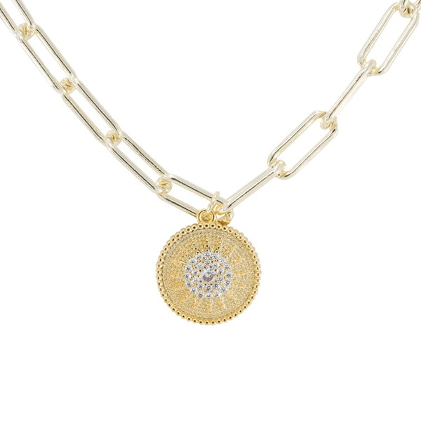 ARIANA Necklace (Gold and Crystal)