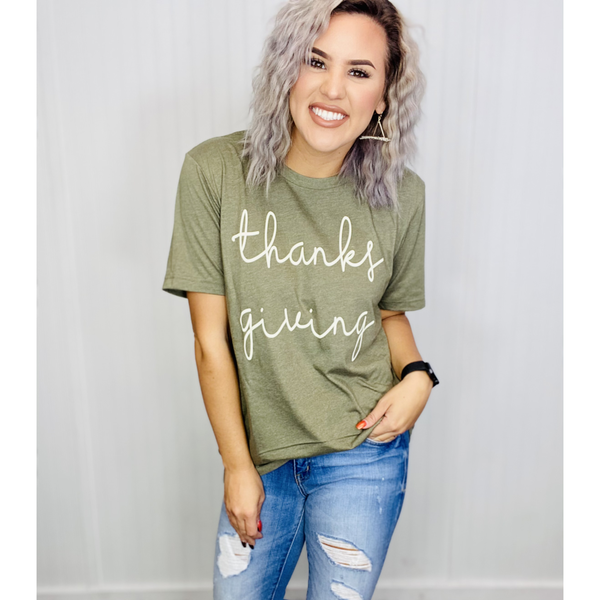 Graphic Tee- Thanksgiving- H.Olive