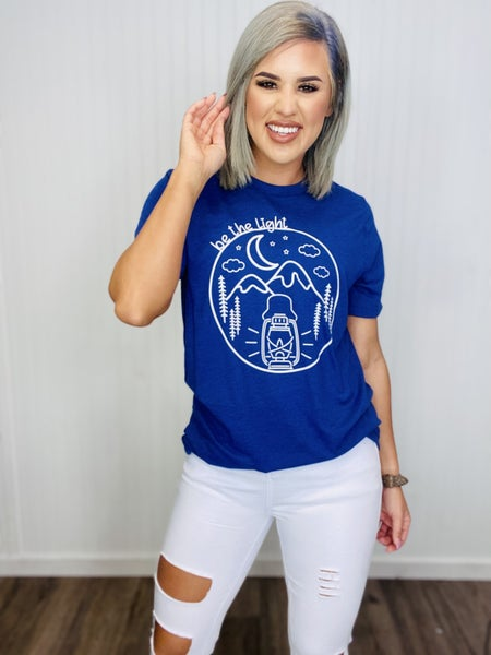 Graphic Tee- Be The Light (NAVY)