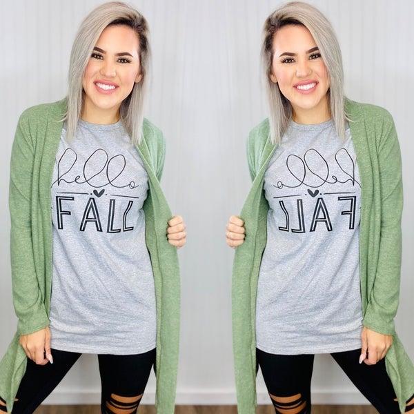 Graphic- Hello Fall- H. Grey *Final Sale*