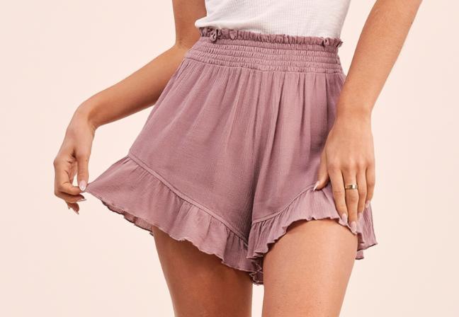 Daybreak Shorts- MAUVE