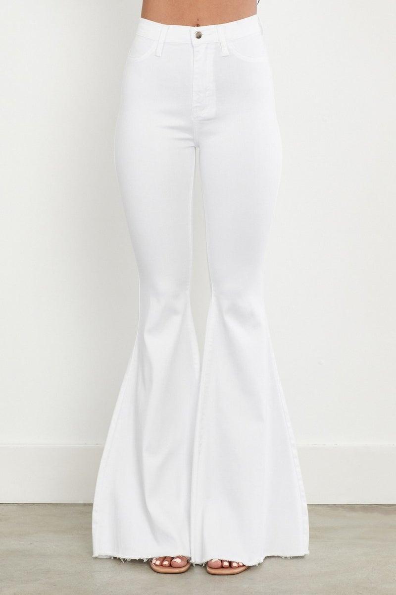 VIBRANT FLARE JEANS- WHITE