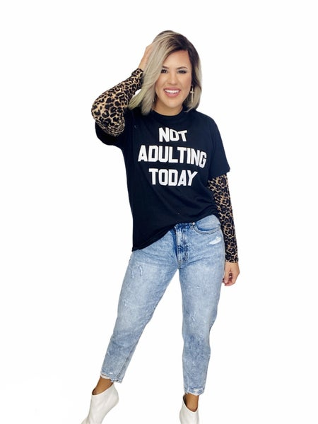 Graphic Not Adulting Today- H. Black