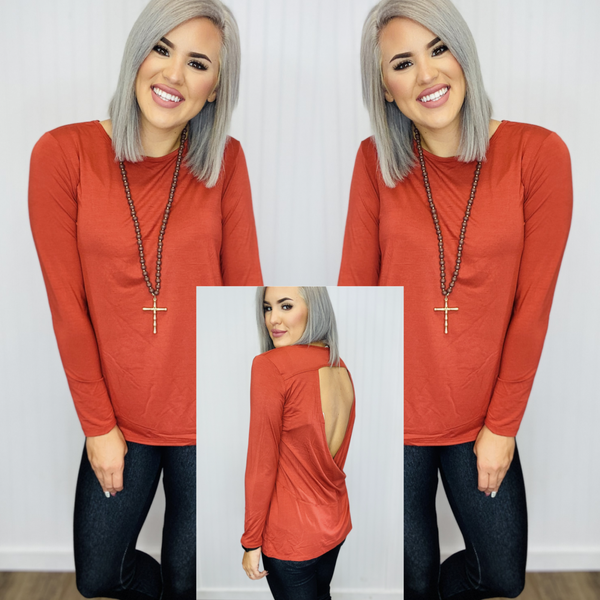 Long Sleeve Cut-Out Back At leisure
