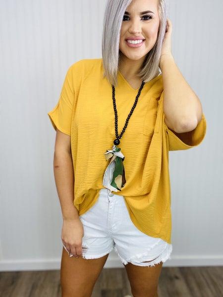 MBN necklace- /black bead/camo tassel