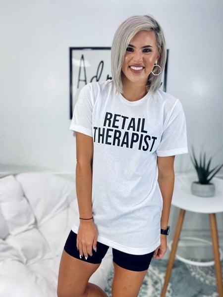 Graphic- Retail Therapist- Ivory