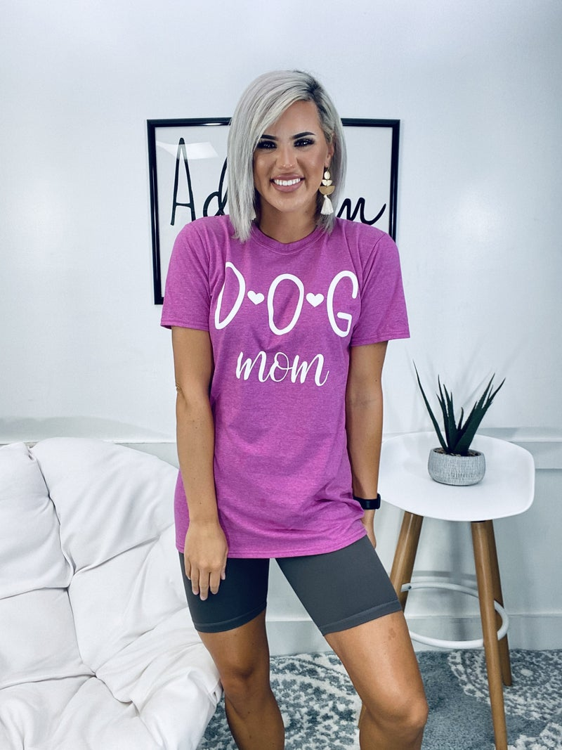 GRAHPIC TEE- DOG MOM