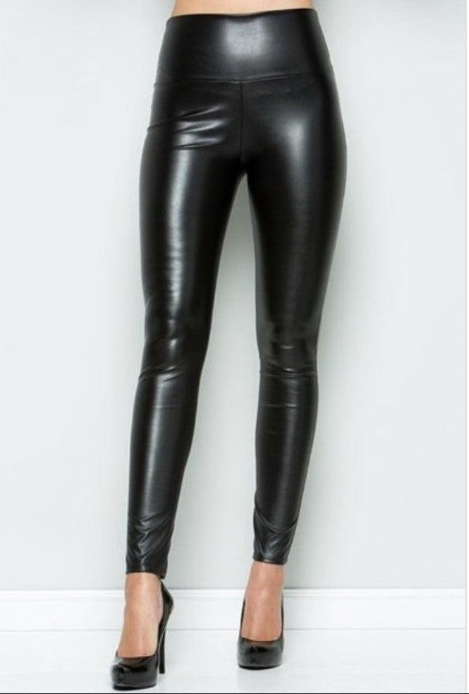 Leather Leggings- Black