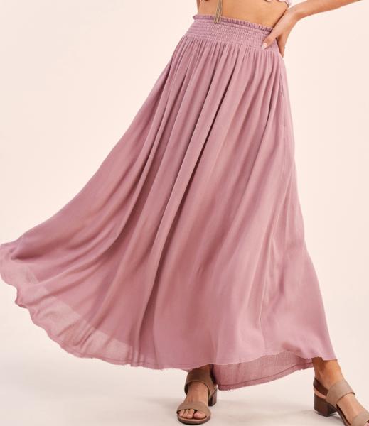 Timeless Skirt- MAUVE