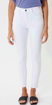 Kancan Dale High Rise Super Skinny Jeans- White