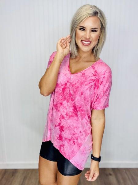 Nolen Top TIe-Dye - Pink