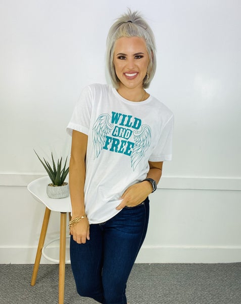 GRAPHIC TEE- WILD AND FREE (IVORY)