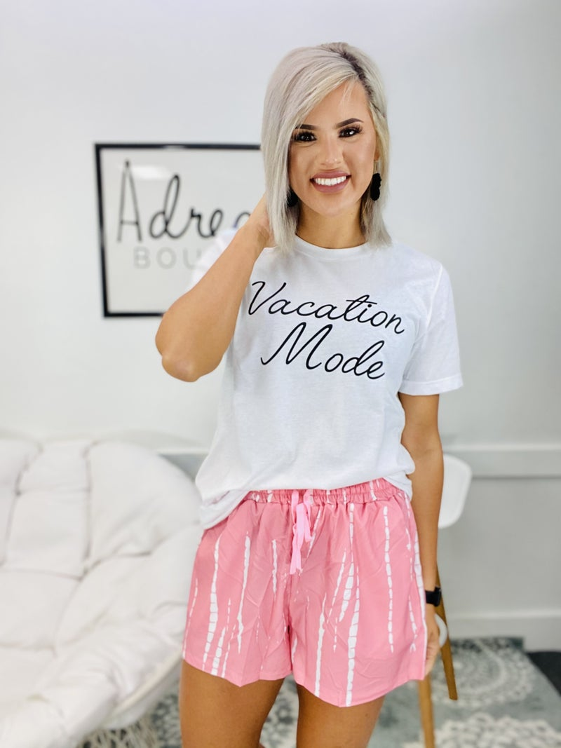 Graphic- Vacation Mode (White)