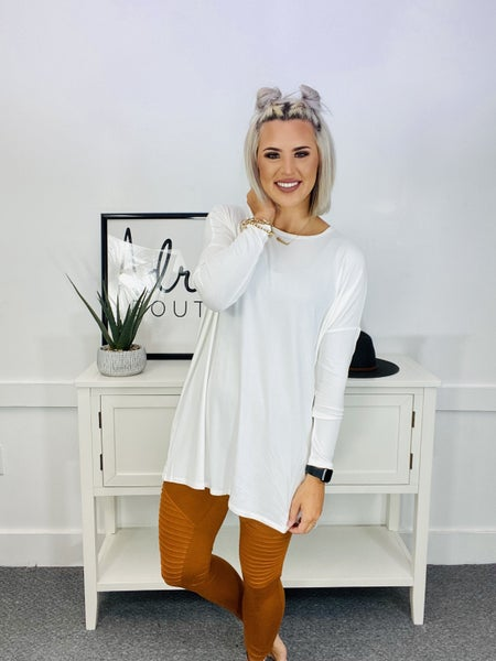 REAL MODAL DOLMAN LONG SLEEVE ROUND NECK TOP