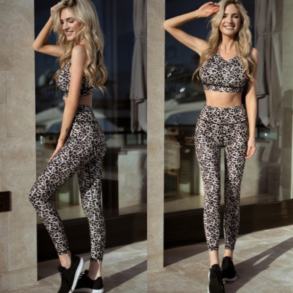 Active Cheetah Print Workout Leggings