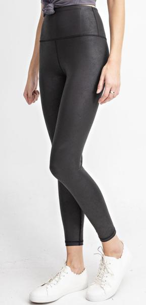Textured Leggings- Black