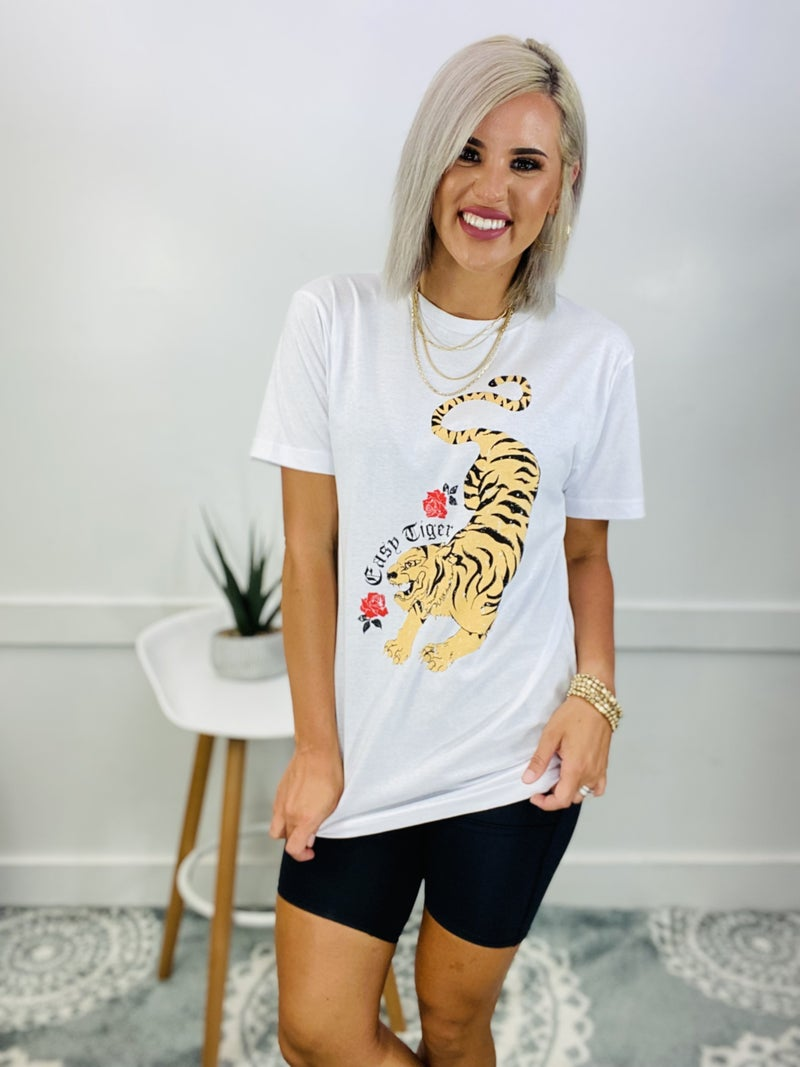 Short Sleeve Casual Top- EASY TIGER *Final Sale*