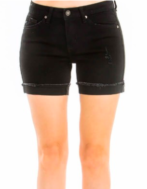 Kancan Hazel Mid-Rise Short- Black