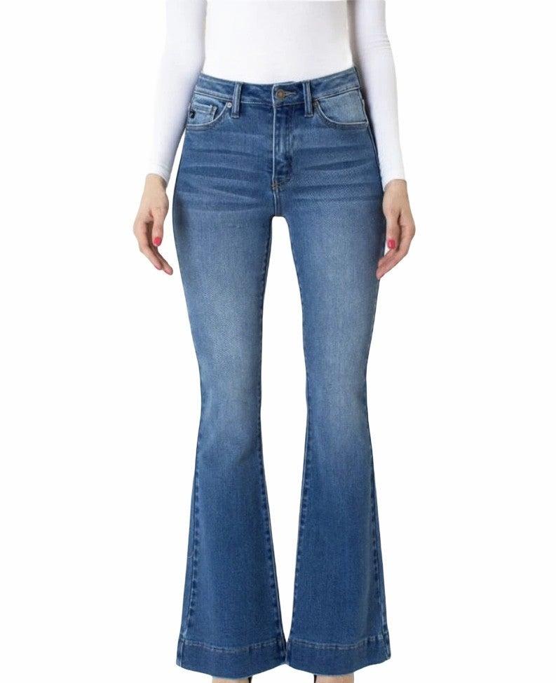 KanCan medium wash flare jeans