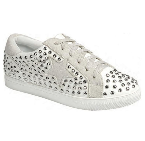 STUDS WHITE STAR SNEAKERS