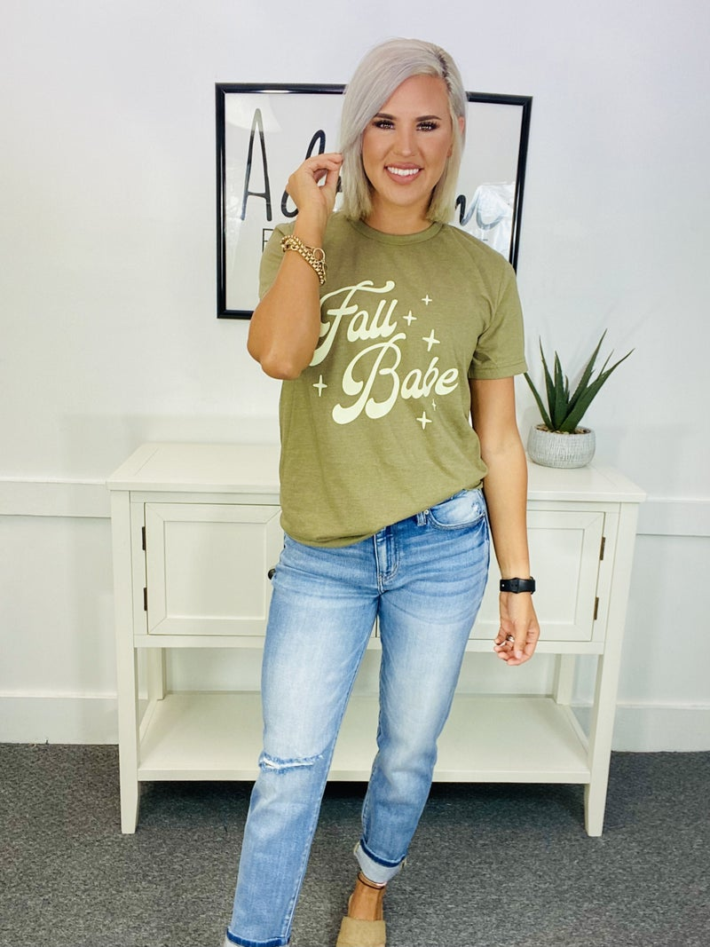 Graphic Tee- * Fall BABE * (Olive)