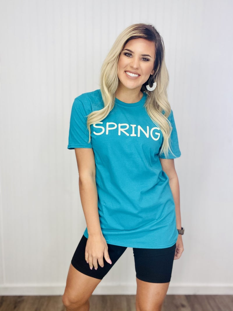 Graphic Spring- Teal Blue