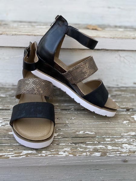 Corkys  black strapped  sandals