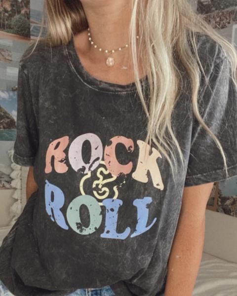 Pre-Order ROCK&ROLL Graphic Retro Tee