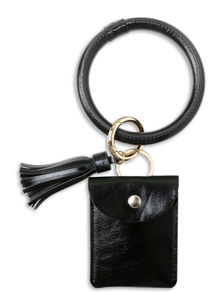 PRe-Order PU Tassel Leather Wrist Card Holder