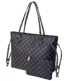 Black Plaid Tote bag