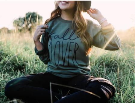 PRE-ORDER Fall Lover (Military Green) Sweatshirt