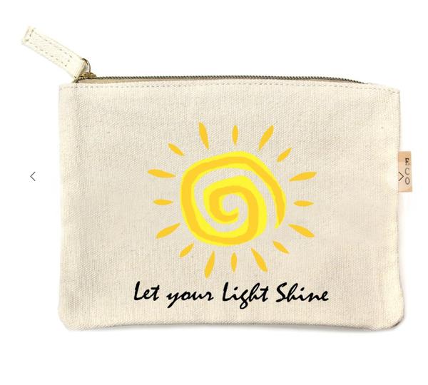 Pre-Order Let Your Light Shine Multi Print Cotton Canvas Eco Pouch Bags