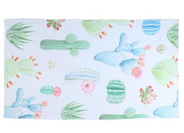 Cactus Pattern Rectangle Towel