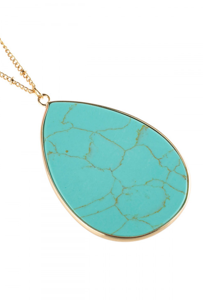 Pre-Order Turquoise Oval Stone pendant Necklace