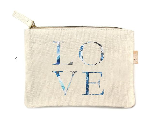 pre-order Love Multi Print Cotton Canvas Eco Pouch Bags